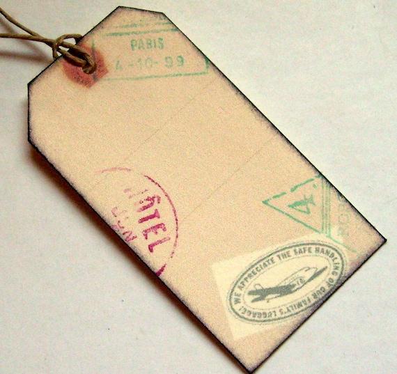Luggage tags mini wedding travel passport set of by 0namesleft