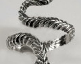 Sterling Silver Adjustable Snake Ring (Ring Sizes 6-8 available)