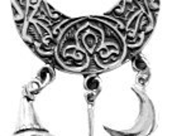 STERLING SILVER MOON CHARM HOLDER