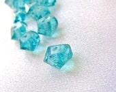 CLEARANCE SALE - 10 Unusual Aqua Teal Blue Apatite Spirals