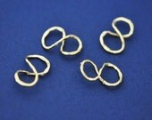 PD382-G // Gold Plated Infinity Pendant Finding, 4 Pc