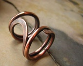 Rocking Chair Ring Forged in Copper and Oxidized - Size 7