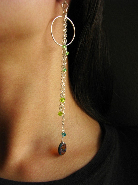 CLEARANCE was 20 now 10 Glam, Long, Dangle and Hoop Chain Earrings