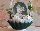 ST. PATRICK'S DAY - vintage style nut cup - candy cup - table decor