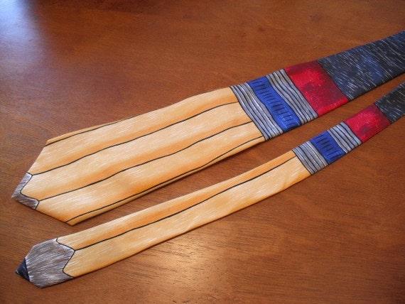 Vintage Pencil Tie- Silk - Save the Children Tie