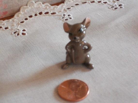 Miniature Mad Mouse- Hagen Renaker - Porcelain