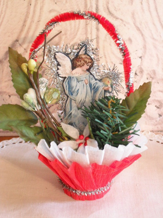 Angel Nut Cup - Vintage Style Christmas Decor - Candy Cup