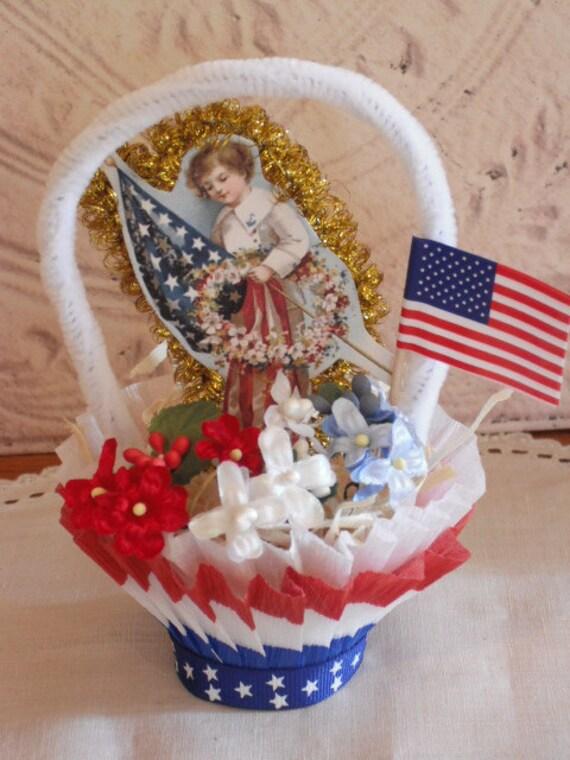 Vintage Style Nut Cup - Candy Cup - Americana - Patriotic