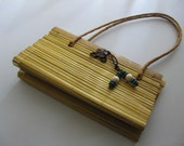 Vintage 70s Cute all bamboo purse