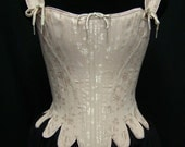 18th Century Marie Antoinette Corset Stays in brocade, cotton, or satin coutils Historic Steel Boned Rococo Cosplay