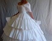 3 Tiered Ruffled Petticoat Civil War Era