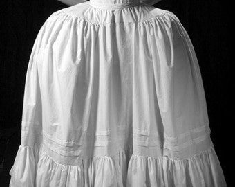 SALE 50% off, 18th century Marie Antoinette Petticoat, White or Custom, Available in size small, Historic Undergarment for over pannier