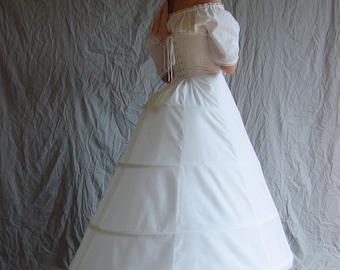 wedding dress hoop skirt