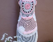 SALE SALE SALE Cotton Candy  Crochet Dress