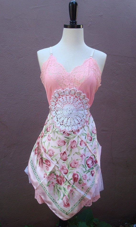 Pink Roses Mini Dress made from recycled materials