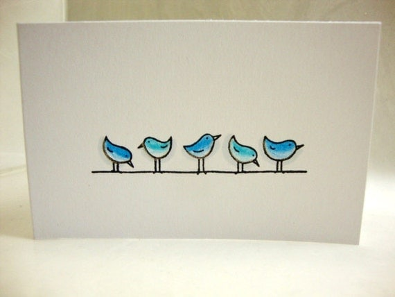 Blue Birds Gift Enclosure Cards