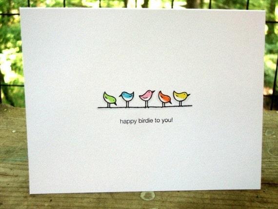 Happy Birdie Birthday Card