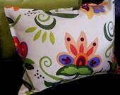 Not-your-grandmas floral pillows (orange\/peach flower) SALE