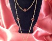 Vintage Faceted Ruby Teardrop Pendant