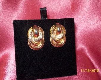 Vintage Double Swirl Earrings