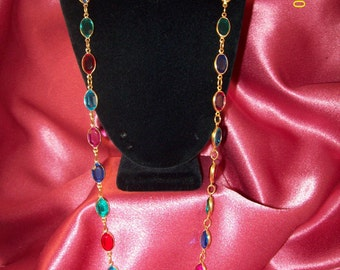 Vintage Jewel Colors Necklace