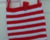 Red-White Strap Bag