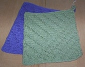 Blue and Green Pot holder