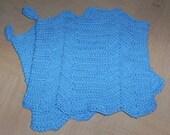 Blue Crocheted Pot holder