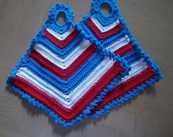Pot Holder Red White Blue