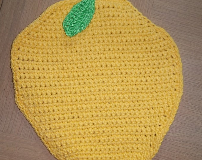 Potholder - Crochet Potholder - Lemon Potholder - Great Table Decoration