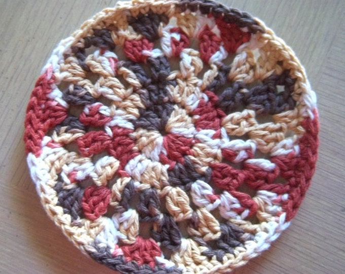 Coaster - Crochet Coaster - Medium Size - Coaster in Fall Colors