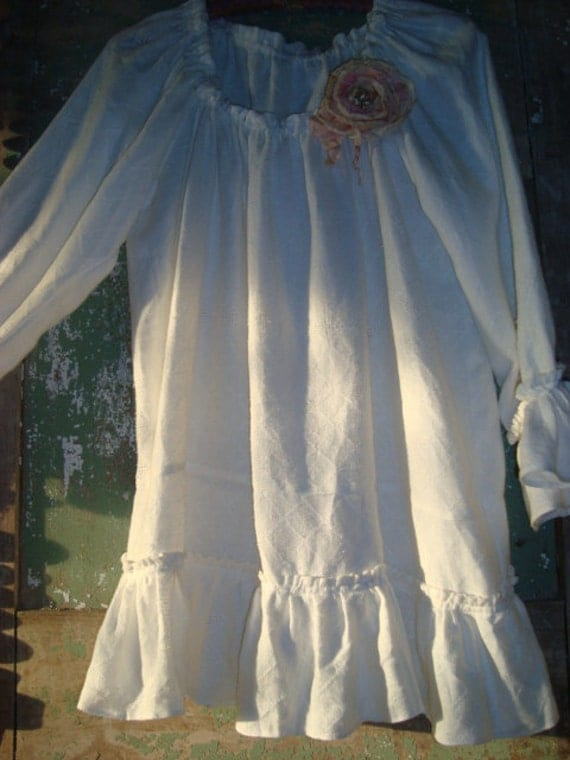 Victorian laundry french linen pheasant tunic... Julie