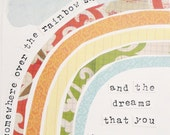 Inspirational Art, Dreams (Somewhere Over the Rainbow), 8x10 Fine Art Print