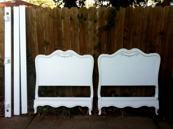 Pair Vintage French Twin Beds