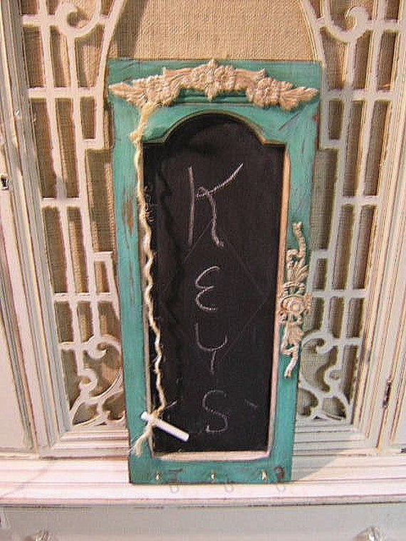Vintage Turquoise Distressed Cabinet Door/ by Antique2Chic ...