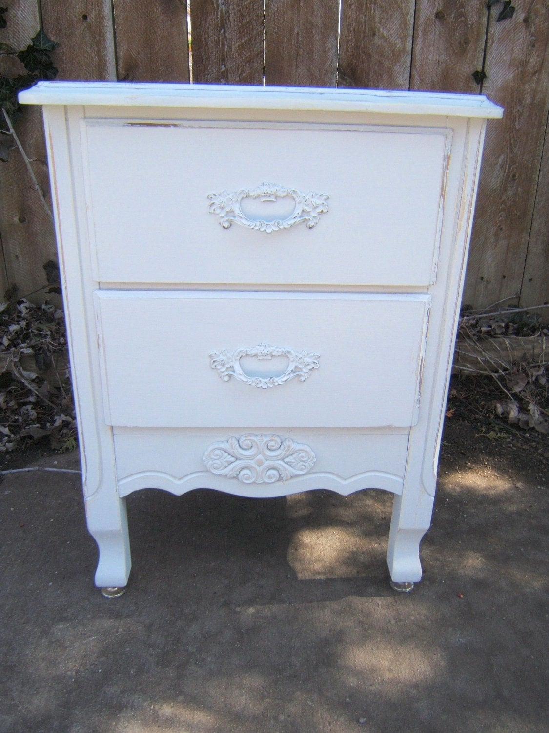 shabby chic french nightstand. Black Bedroom Furniture Sets. Home Design Ideas