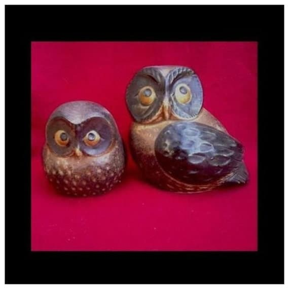 Pair of VTG Whimsical Japanese Porcelain Owls Use the Coupon Code