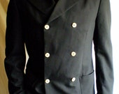 Black double-breasted blazer with hood Size 42R