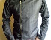 Size XSmall Pinstripe zipper jacket. Handmade