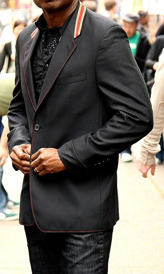 Black Jacket with red trimming