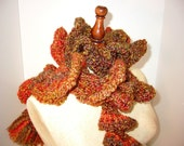 Crochet Hat and Scarf Multi Color