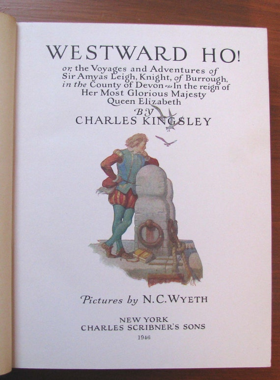KINGSLEY -- Westward Ho! -- 1855 1st Edition -- Complete in 3 HC Volumes