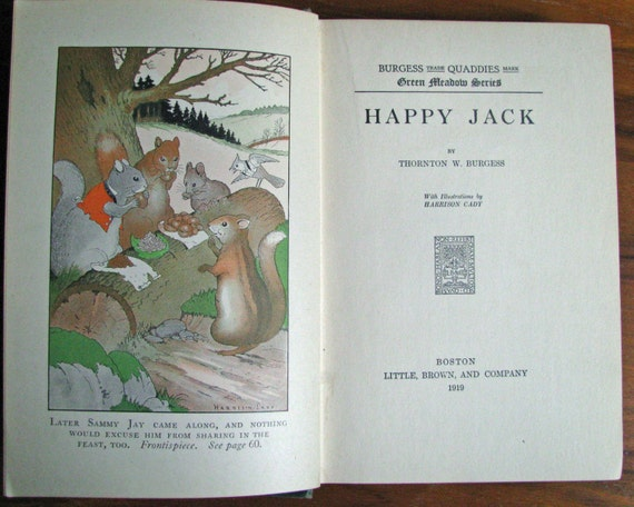 Happy Jack, Thornton W. Burgess autographed first edition, 1919