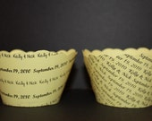 Custom  Cupcake Wrappers Weddings Engagements Showers Business Logos