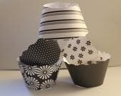 Black and White Cupcake Wrappers SALE