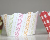Customized Mini Cupcake Wrappers All Colors and Patterns
