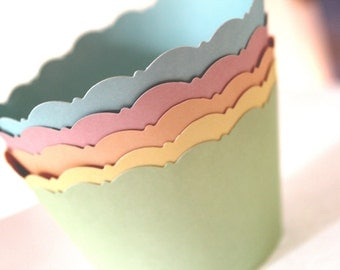 Pastel Color Cupcake Wrappers