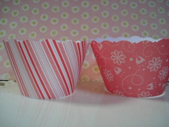 Shabby Chic Cupcake Wrappers SALE