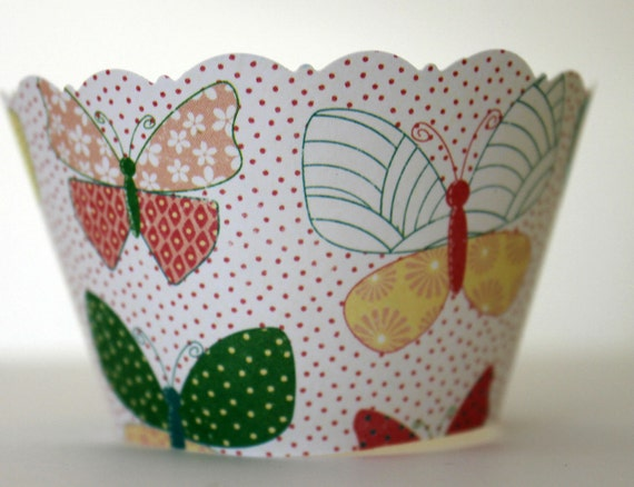 Butterfly Cupcake Wrappers SALE