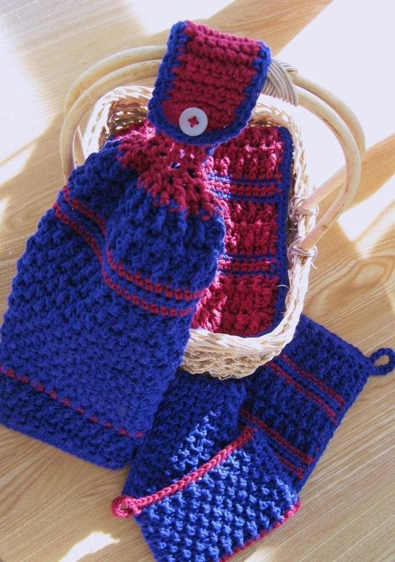 Crochet Patterns for Bread Basket Kitchen Set by ...